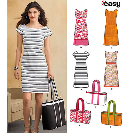 Easy Dress and Bag – New Look Pattern – The Denim Company