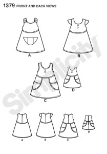 1379 Childs Dress Back and Front sketch