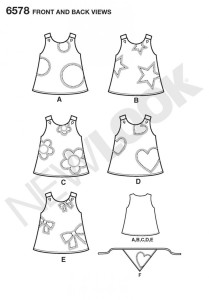 6578 toddler dress back